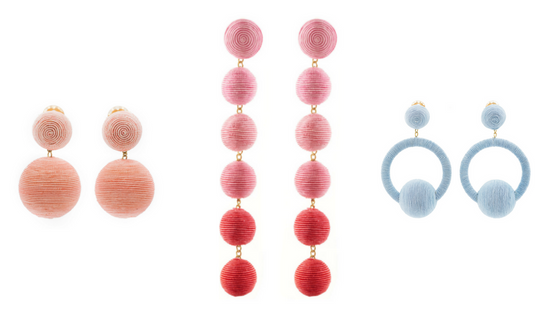 BEACHY BAUBLES:   Rebecca de Ravenel Classic Two Drop Earrings (UPDATE: now sold out, but  similar style here ),  Rebecca de Ravenel Skinny Earrings ,  Rebecca de Ravenel Hoop La La Earrings