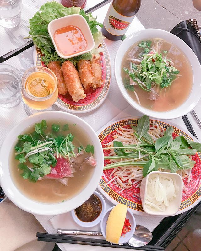 Paris is Pho Lovers 🌝🥡🍜 – Y'all @bellakuan and I are #AsianAuntiesAtHeart #RoadsideFood #PetalingStreet #Paris #SameSame #RebekahChengParis