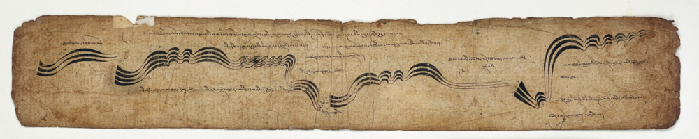 Tibetan MS 42, leaves from a musical score' . Credit:  Wellcome Collection .  CC BY