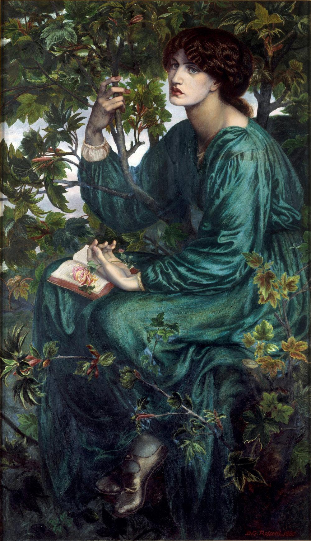 """""""The Day Dream"""" Dante Gabriel Rossetti [Public domain]"""