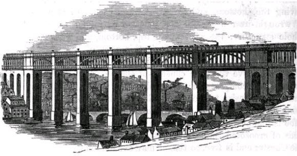 High-level Bridge, Newcastle upon Tyne. Frederick S. Williams [Public domain], via Wikimedia Commons