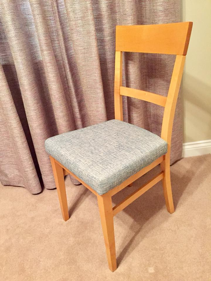 Reupholstered dining room chairs — Ionaida - Curtains, Blinds and ...