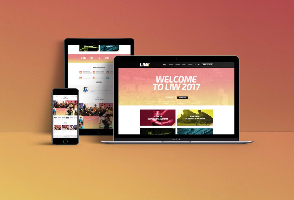 Branding & Web Design for LIW Leisure Trade Show 2017