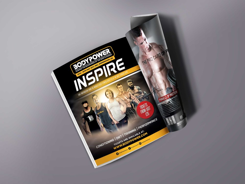 Magazine advertisement published in all leading fitness magazines.