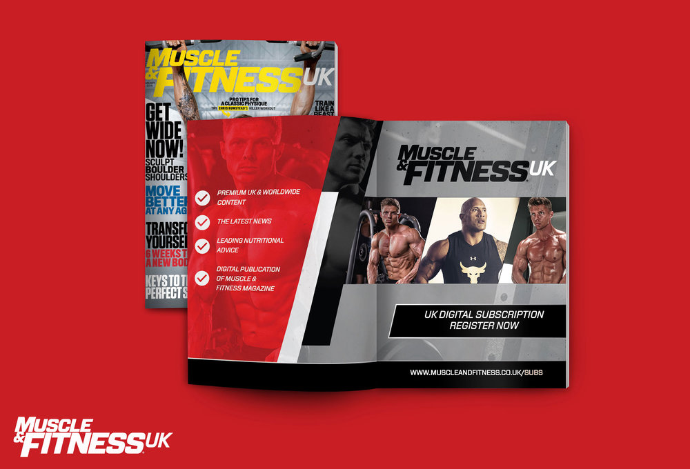 Subscription Advert for Muscle & Fitness UK Magazine