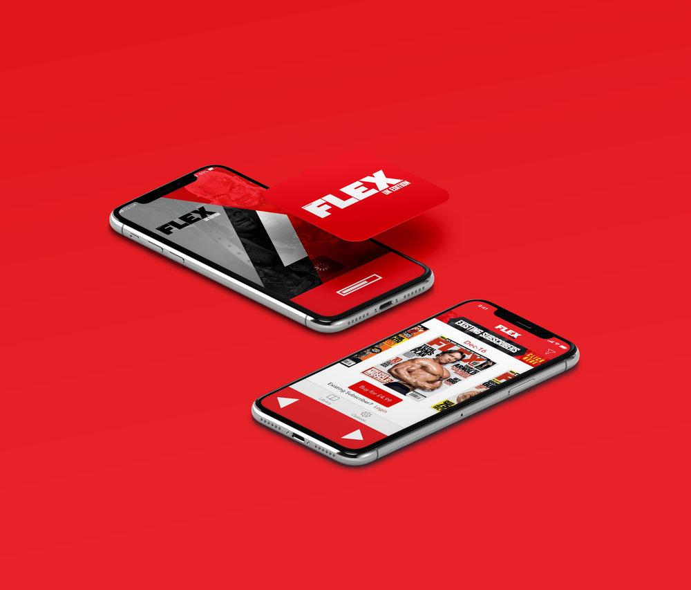 Flex Magazine UK - Social / App Design / Advertising