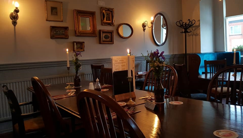The new dining room dressed ready for Mother's Day service 18th March 2018.