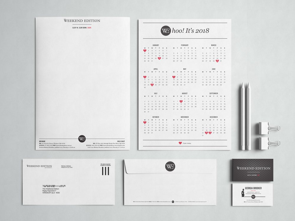 The Weekend Edition Stationary