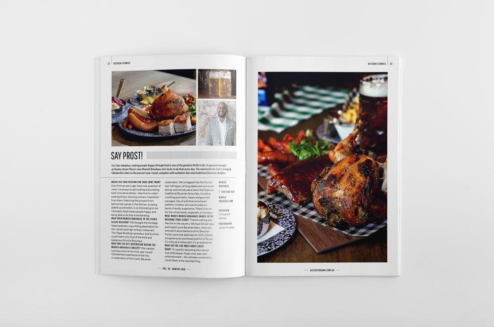 nosh magazine spread
