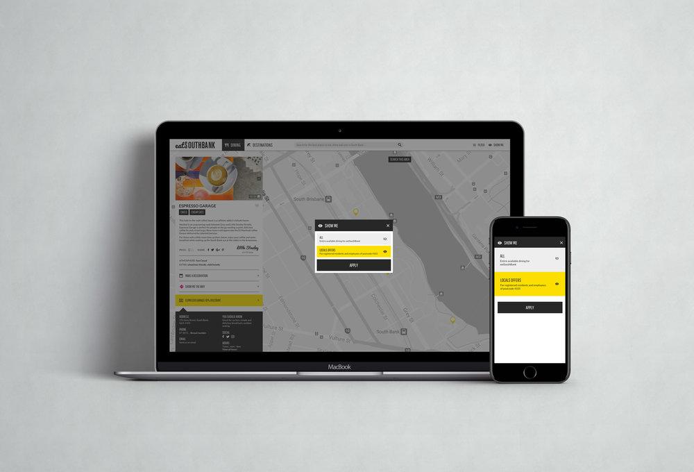 eatSouthBank Interactive Map