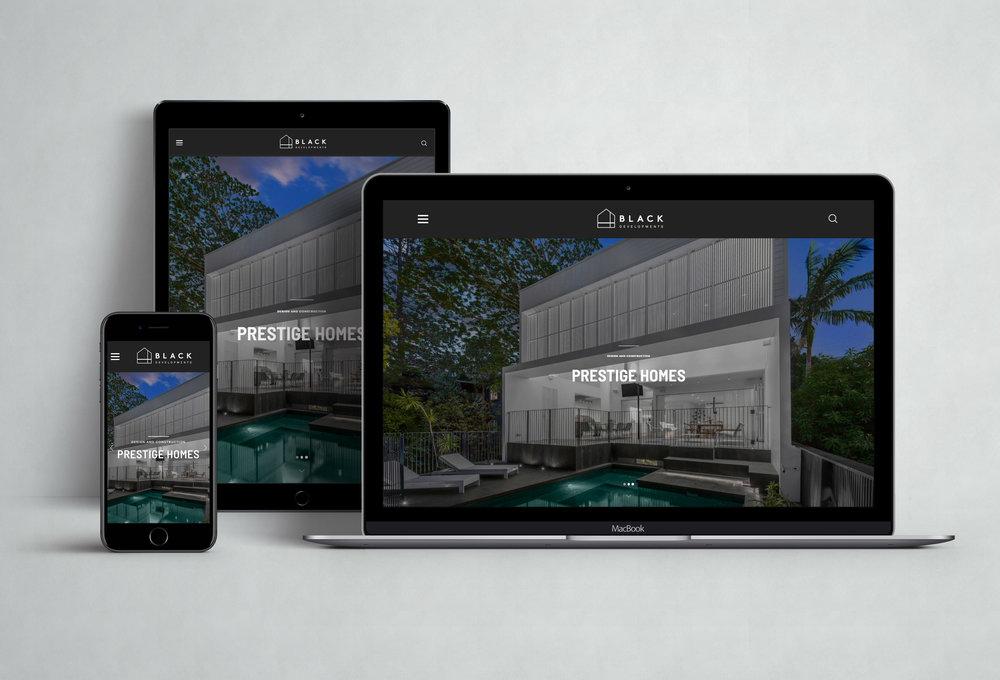Black Developments Website Design