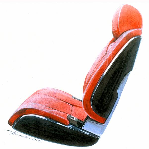 LINCOLN MK9 SEAT SKETCH