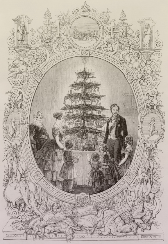 "Source: The Queen's Christmas tree at Windsor Castle published in ""The Illustrated London News"", 1848."