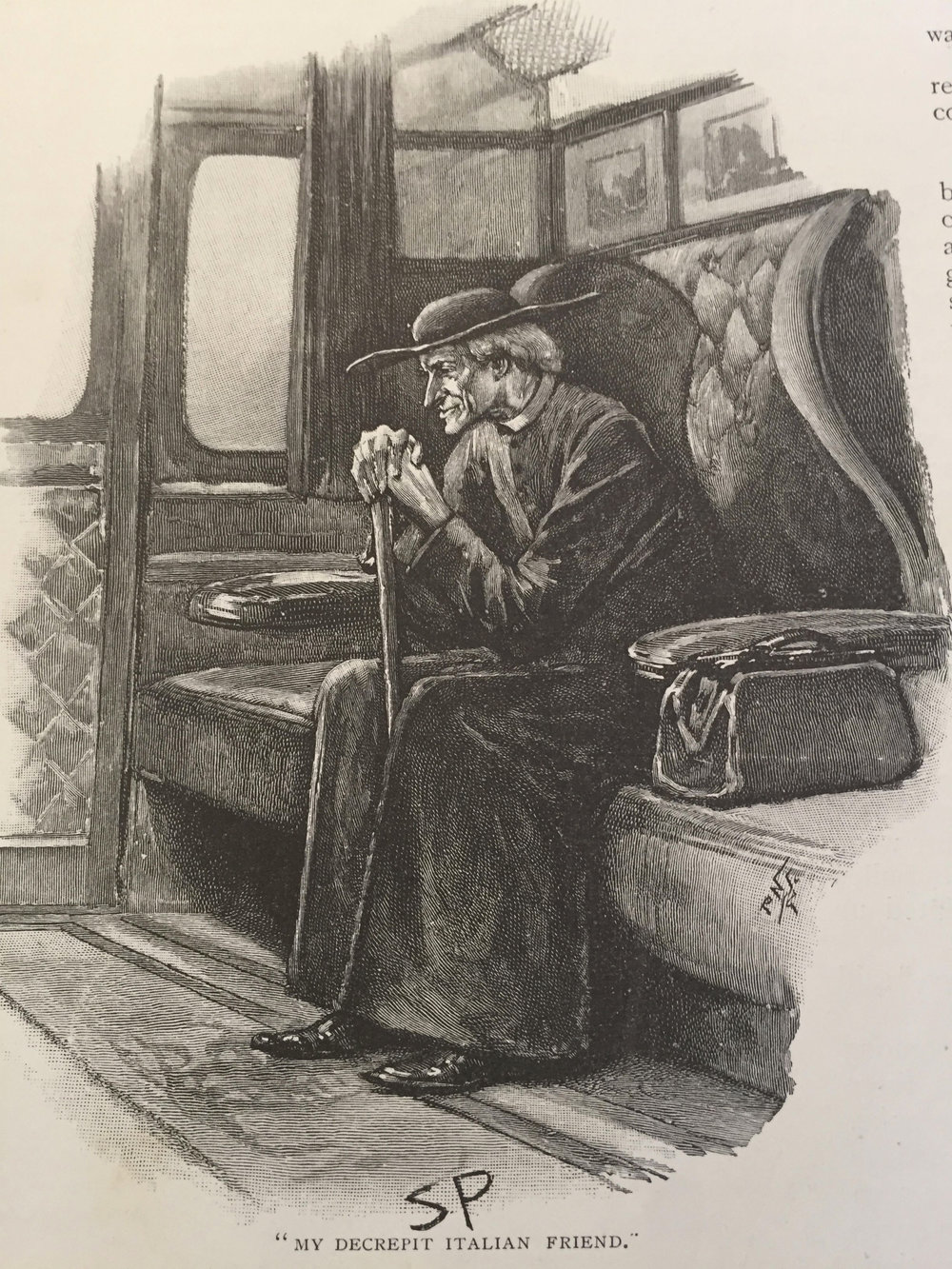 """Source: """"The Final Problem"""" by Sir Arthur Conan Doyle. Illustration by Sidney Paget, 1883."""