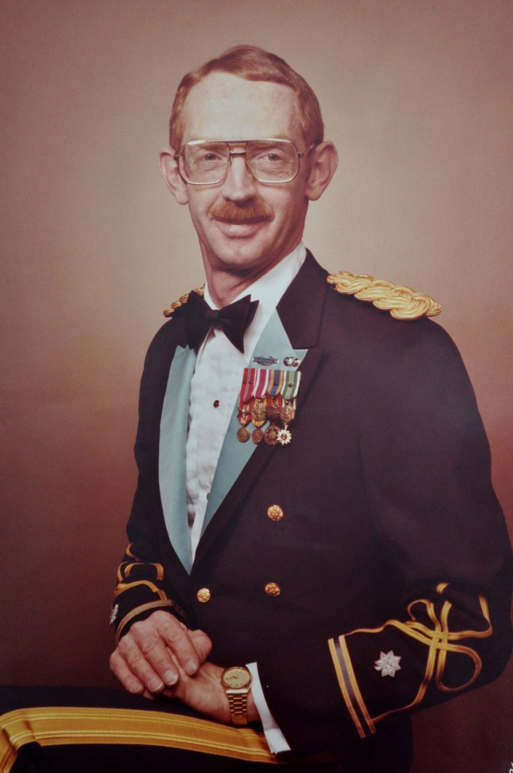 Dad in his dress uniform. He taught me many things just through how he lived, and he continues to teach me things even though he's been gone for 10 years.