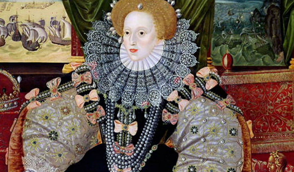 Queen Elizabeth I of England, also known as Elizabeth Tudor and as 'The Virgin Queen' (image from englishhistory.net, accessed on 5/27/18 at 6:51am)