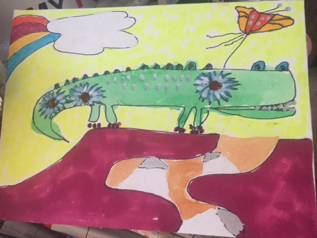 Painted lizard by Jacob