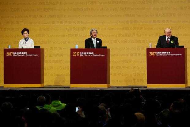 De kandidaten in debat © REUTERS