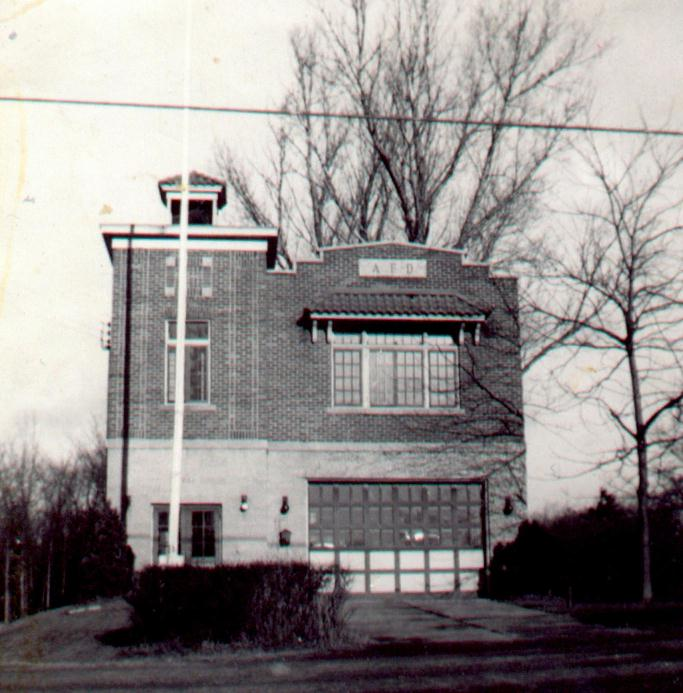 The Alplaus Firehouse, built in 1931, pictured here in 1948.