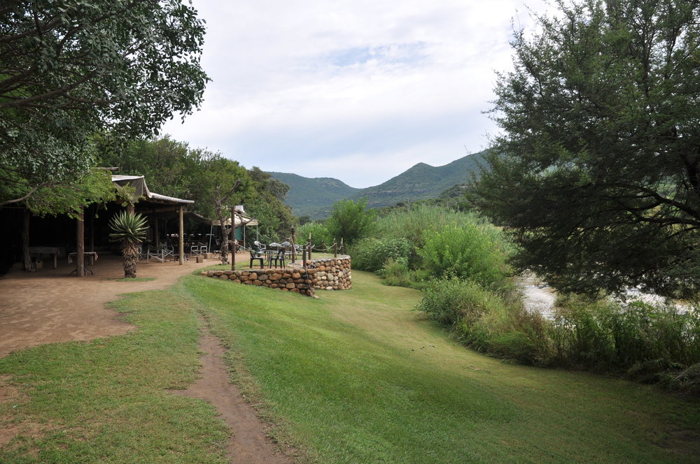 The main camp at Zingela, next to the Tugela River