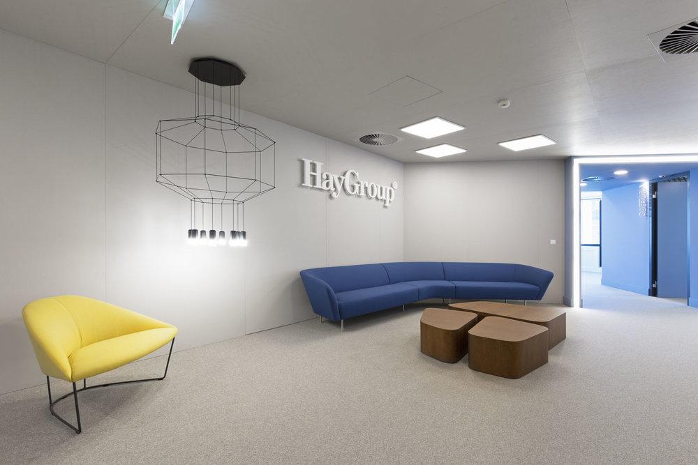 Recepção do escritório da Hay Group em Lisboa