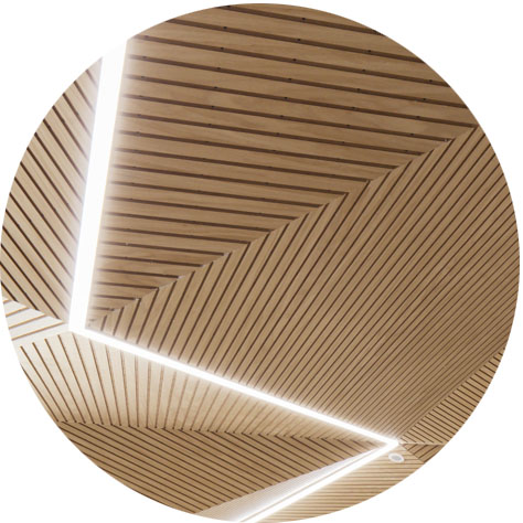 Wooden Illuminated Ceilings