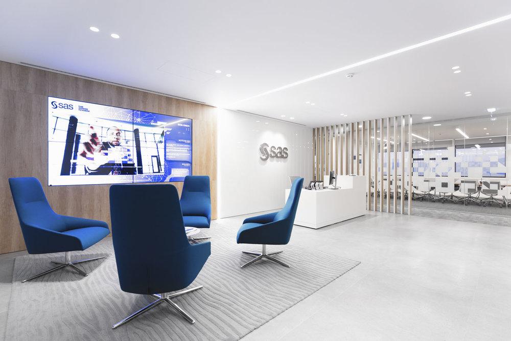 Poltronas Alya na recepção da SAS Software em Lisboa