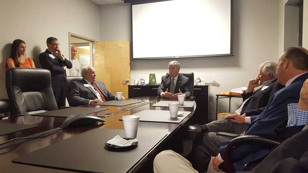 Rep. Rob Woodall addresses the future of infrastructure at a meeting in Augusta, GA.