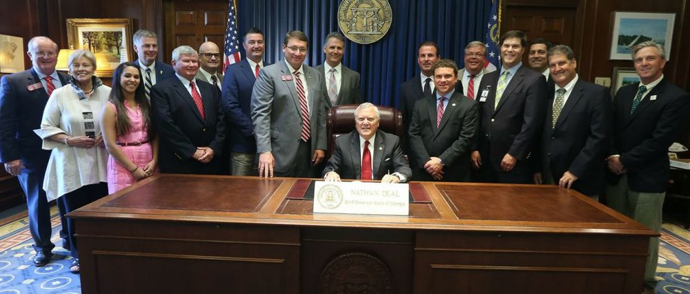 HB 247 gets signed by Governor Nathan Deal at the Georgia Capitol.