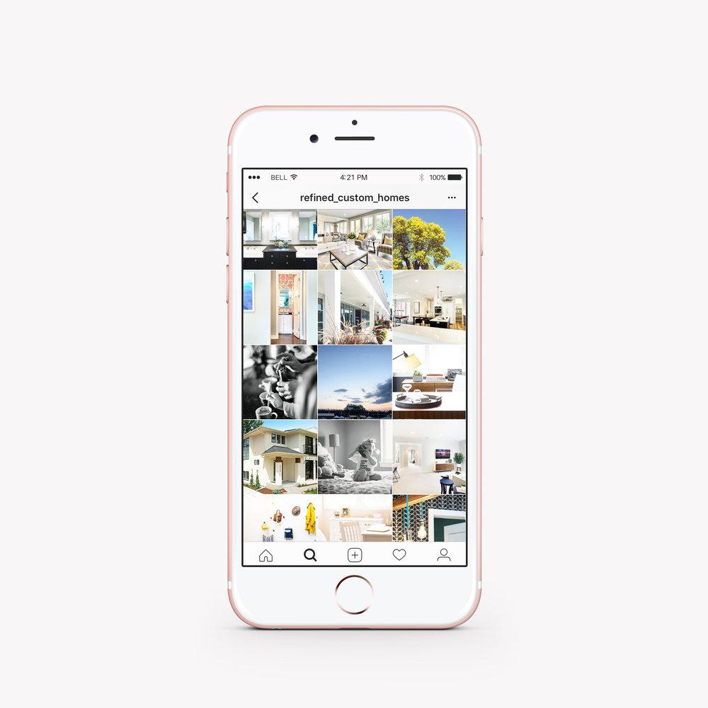 Custom Home Builder Instagram Management