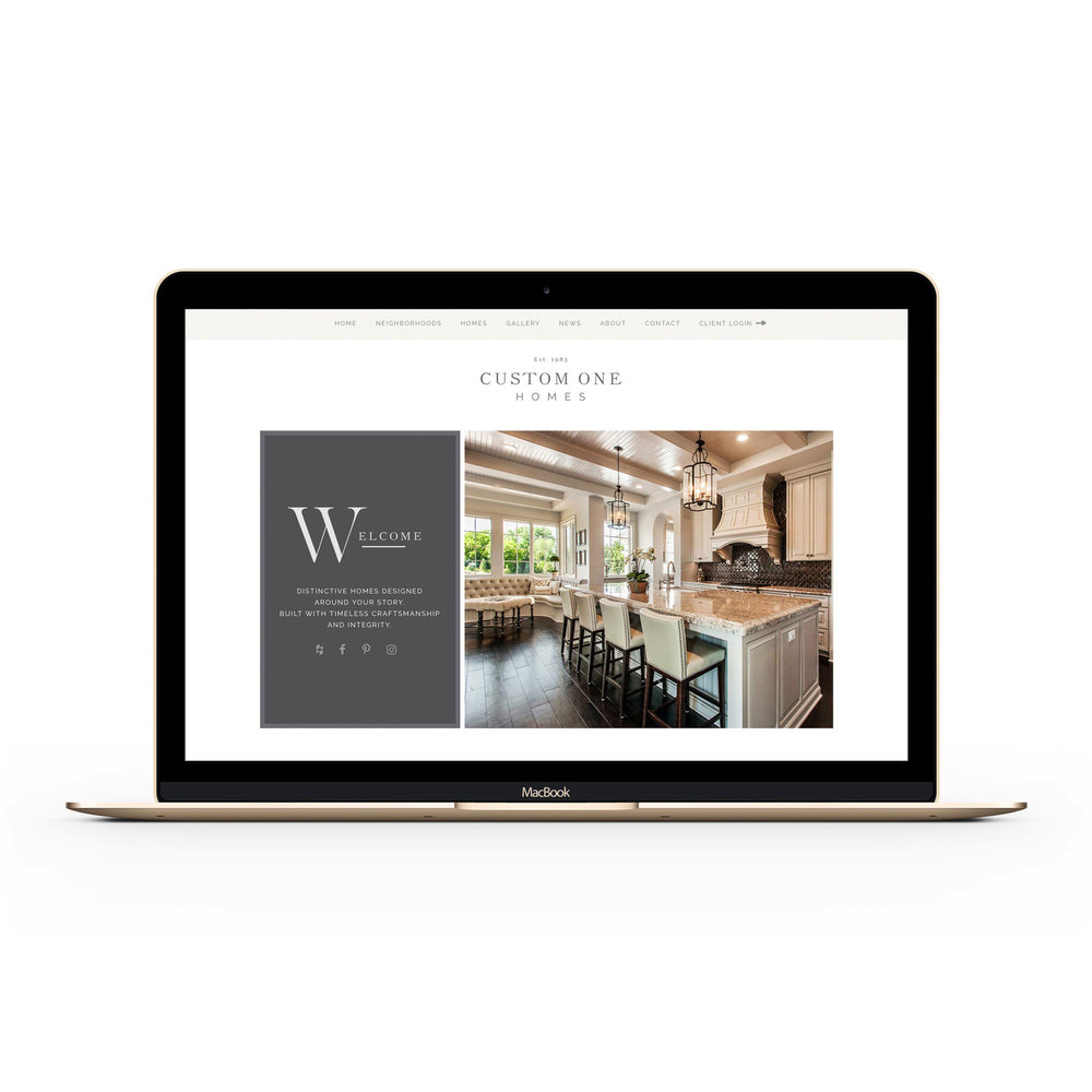 Luxury Custom Home Builder Website Design