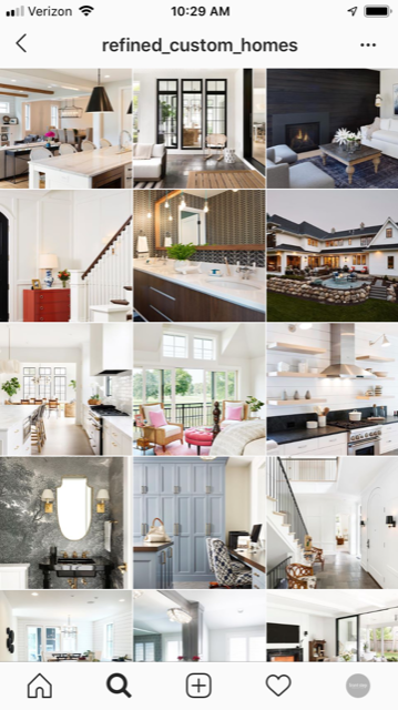 Custom Home Builder Instagram Marketing