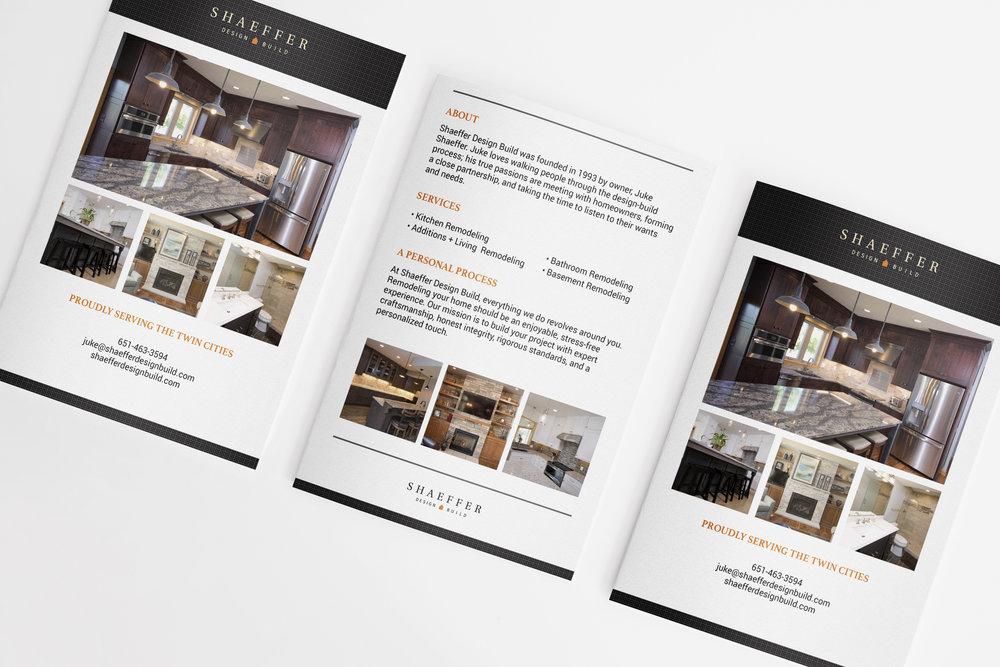Shaeffer Design Build Remodeler Marketing Brochure