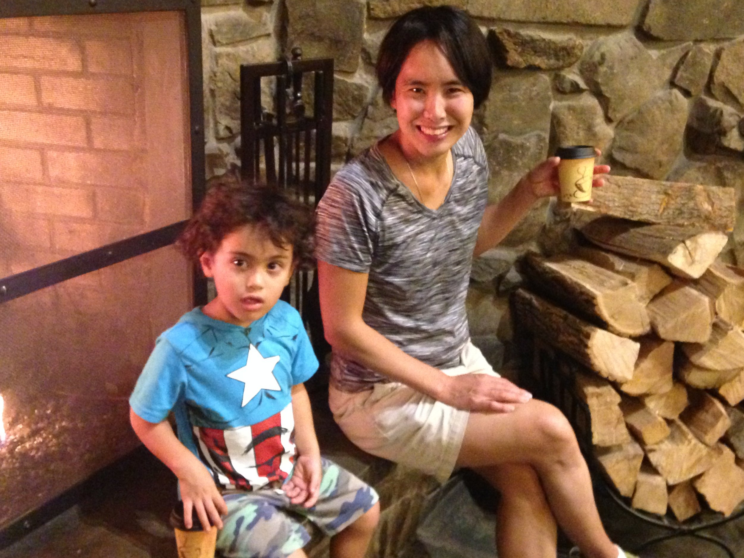 Reader Karen Maruyama Bolognese with her youngest.