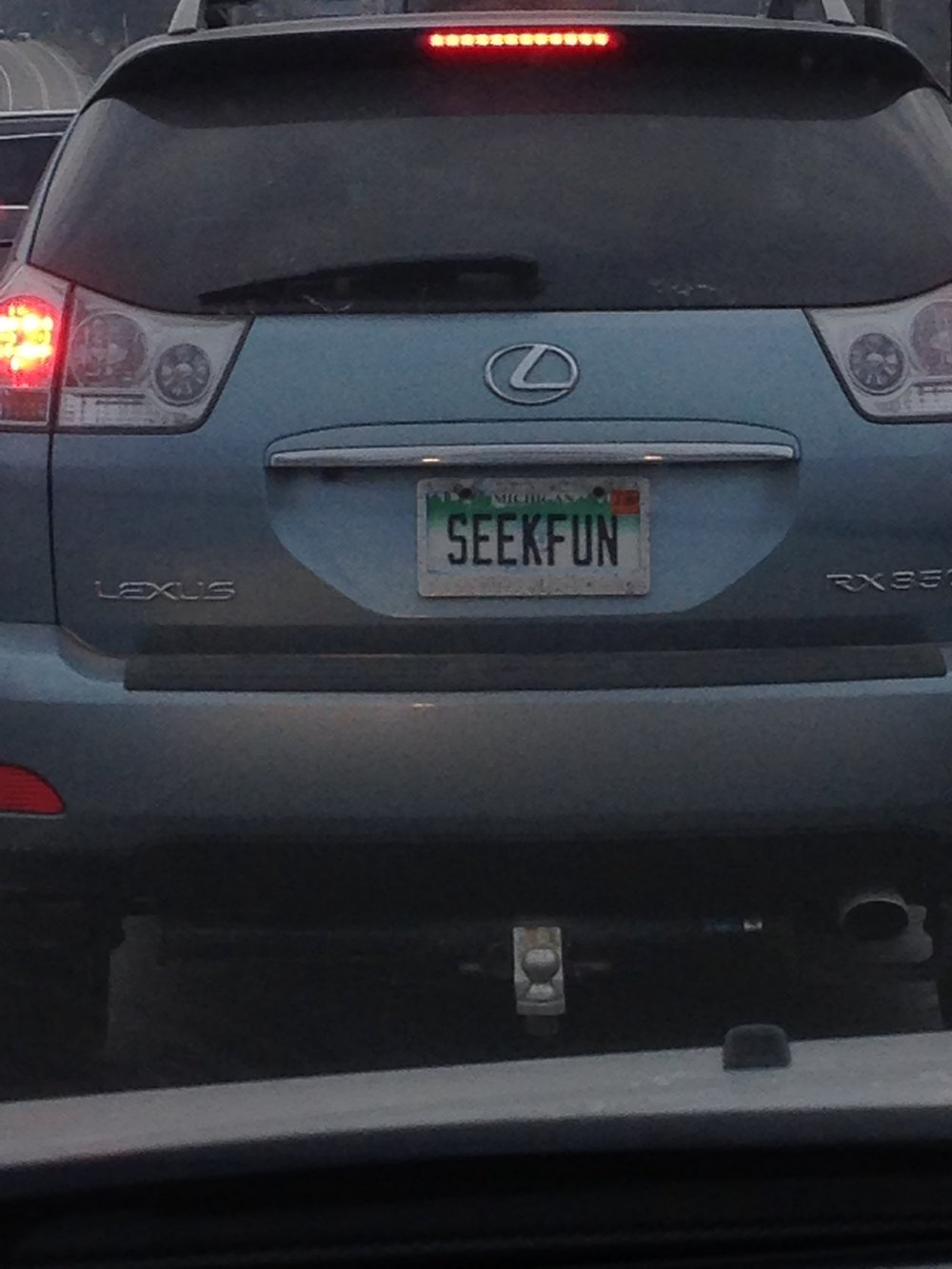 "A message from God? ""Seek Fun"" appeared to me on a gray day in December 2018."