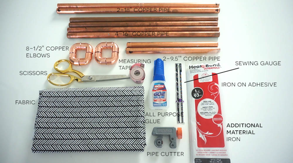 Materials Needed For DIY Copper Pipe Magazine with Rescue My Space.jpg
