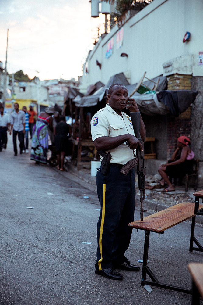 haitian military police officer, 2015.
