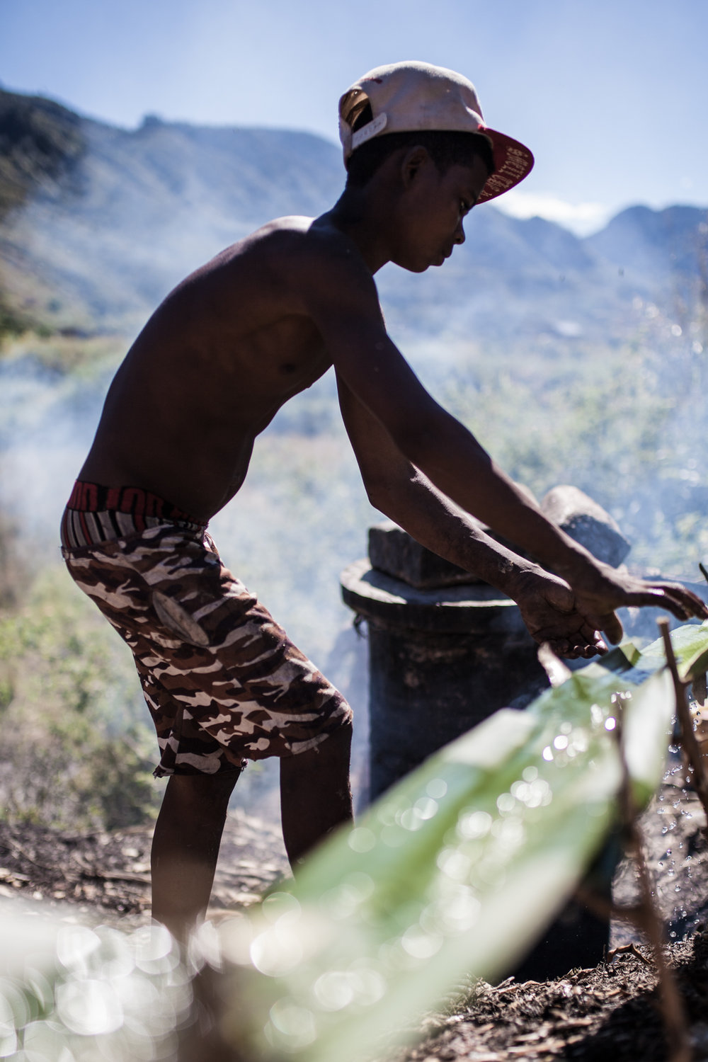 Toaka Gasy Is Distilled in Oil Drums from a Fermented Sugarcane Mix