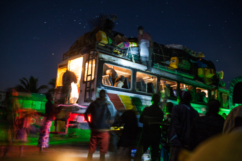 carrying up to 120 people on a 600km journey that can last more than 30 hours, besalama rasta is a feat of endurance for all involved
