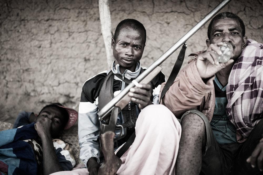 Booze and guns - the staples of any bara celebration