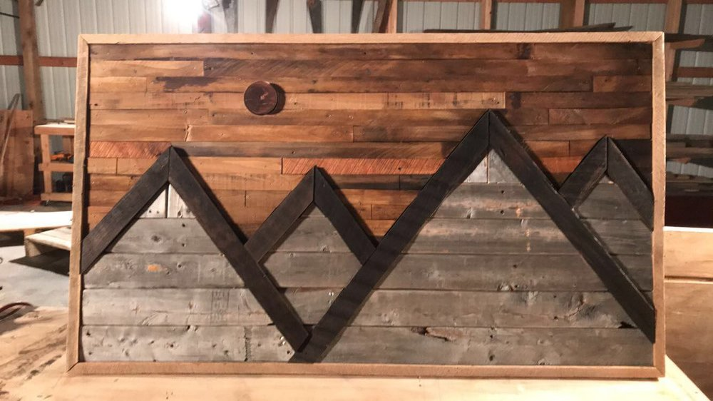 Custom Moutain Range Home Decor