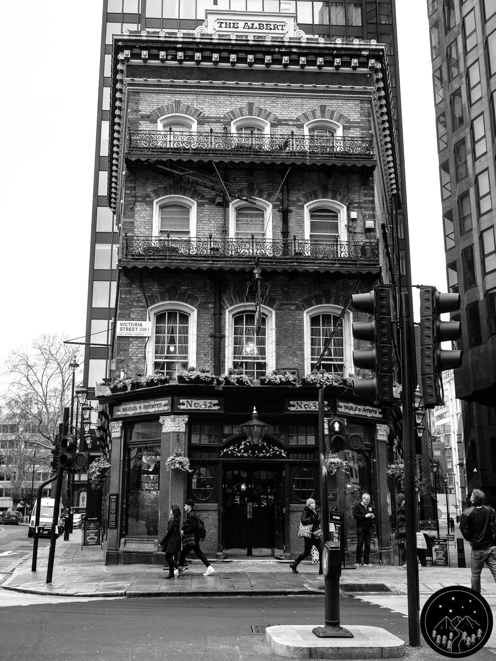 Image Description: The Albert pub on Victoria Street, London