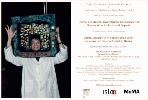 ISLAA - Website - Initiatives - Post 59 - Flyer - Jaime Davidovich Avant-Garde Adventures at MoMA.jpg