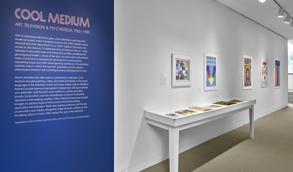 DInstallation view,  Cool Medium: Art, Television & Psychedelia, 1960-1980 , October 6, 2017–March 11, 2018, deCordova Sculpture Park and Museum, Lincoln, MA. Photograph by Clements Photography and Design, Boston