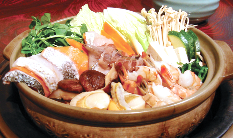 Nabemono Hot Pot - なべ物is Japanese hot pot simmered with seasoned broth. It is light in flavor but a hearty pot of fresh ingredients, cooked all-in-one like a