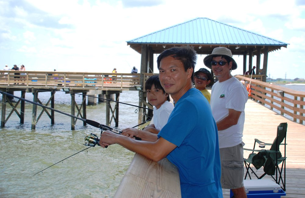 Fishing's for the whole family at the St. Tammany Pier, Slidell. Courtesy LouisianaNorthshore.com .jpg