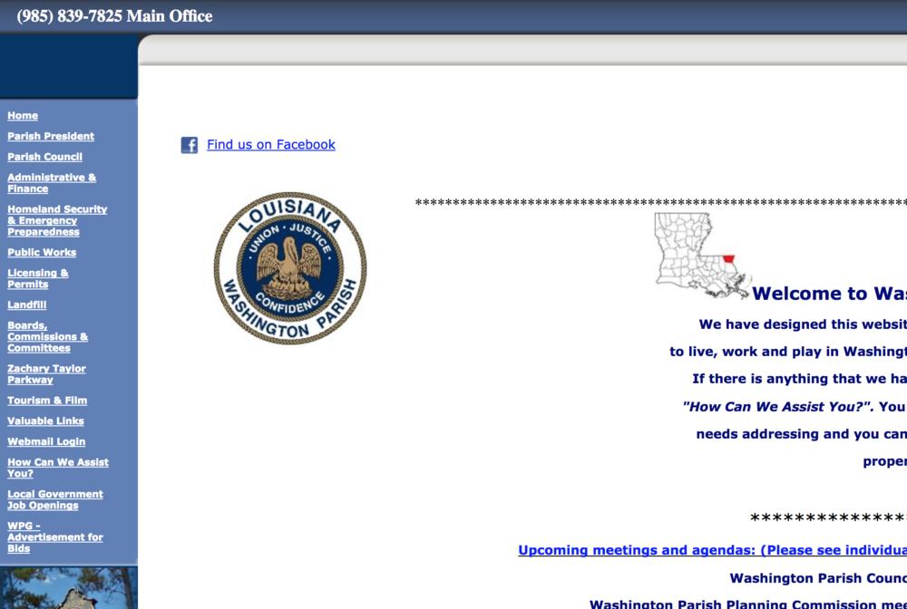 Washington Parish Government