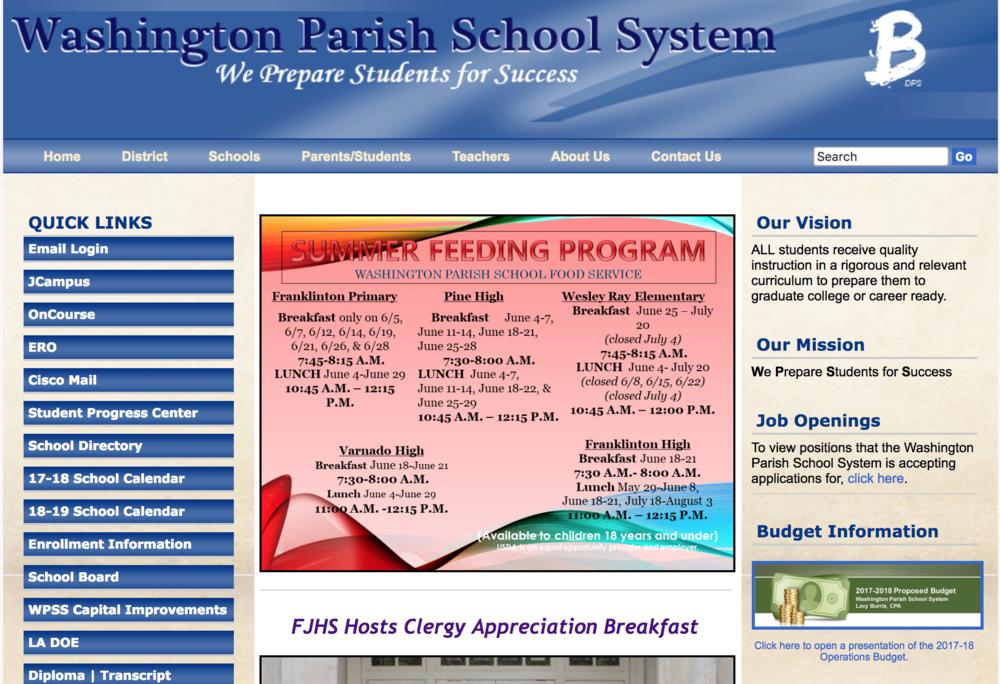 Washington Parish School System