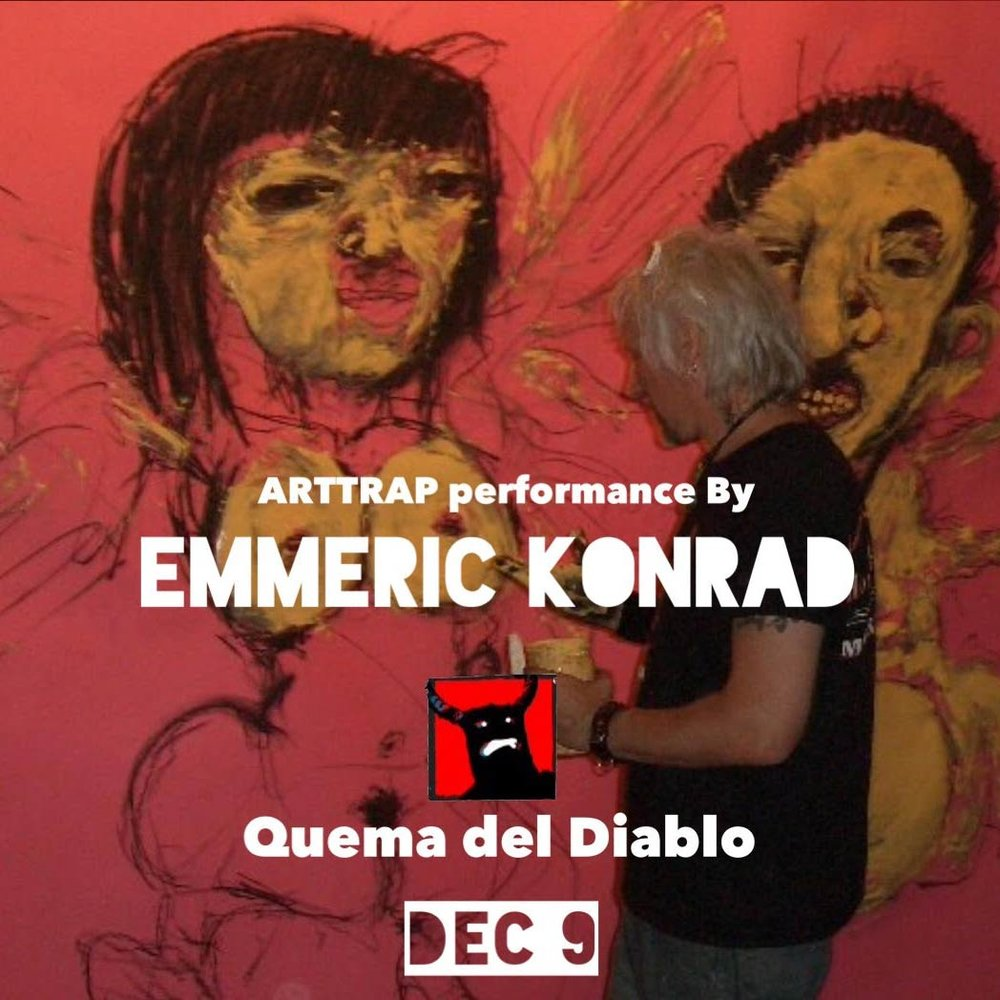 Live painting by  Emmeric Konrad .    Check out his amazing work in the Arttrap. YOU WILL NOT BELIEVE IT.