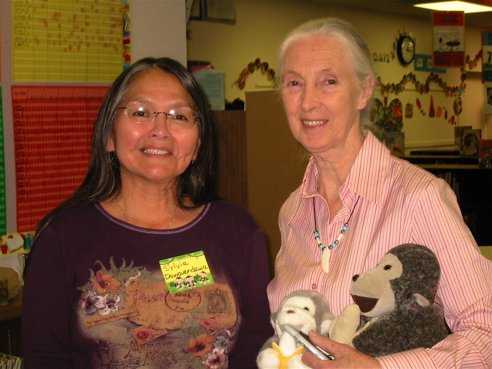 Sylvia Dawavendewa and Primatologist Dr. Jane Goodall